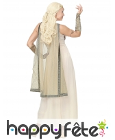 Robe blanche de déesse romaine avec cape, image 3