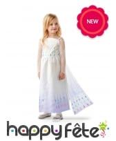 Robe blanche de Elsa pour fille