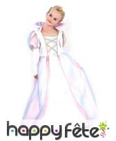 Robe blanche de princesse dégradé rose pour enfant