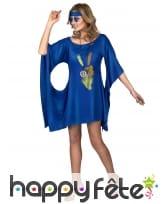 Robe bleue de hippie manches évasées, image 1