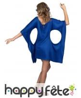 Robe bleue de hippie manches évasées, image 2