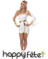 Robe blanche et dorée courte de déesse, image 1