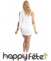 Robe blanche et dorée courte de déesse, image 3