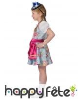 Robe bavaroise fleurie pour enfant avec tablier, image 1