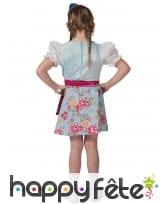 Robe bavaroise fleurie pour enfant avec tablier, image 2