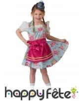 Robe bavaroise fleurie pour enfant avec tablier