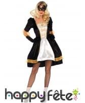 Robe baroque noire or pour femme
