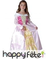 Robe bouffante rose de princesse pour fillette