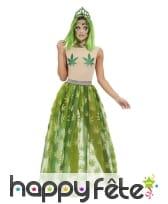 Robe cannabis avec body transparent