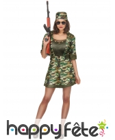 Robe camouflage courte pour femme adulte