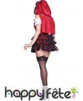 Robe courte chaperon rouge premium pour adulte, image 1