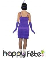 Robe courte charleston à franges, violette, image 1