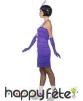Robe courte charleston à franges, violette, image 2