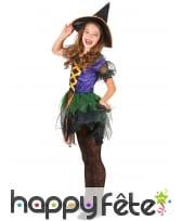 Robe colorée de petite sorcière pour enfant, image 1