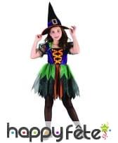 Robe colorée de petite sorcière pour enfant, image 3