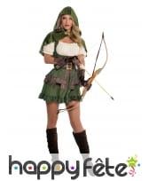 Robe courte d'archer avec capuche pour femme
