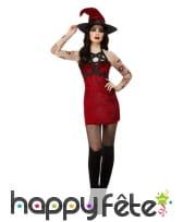 Robe courte de sorcière rouge satanique, image 1
