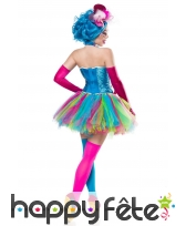 Robe corset et tutu multicolores de clown, image 1