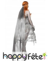 Robe corset grise de mariée zombie avec cerceau, image 1