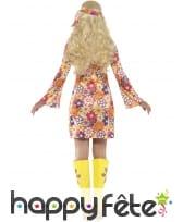 Robe courte imprimé multicolore Hippie, image 1