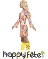Robe courte imprimé multicolore Hippie, image 2