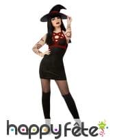 Robe courte noire de sorcière sexy satanique, image 1