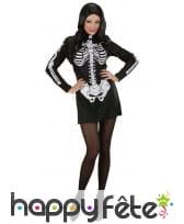 Robe courte noire imprimé squelette