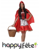 Robe chaperon rouge pour femme adulte