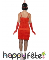Robe courte rouge à franges style charleston, image 1