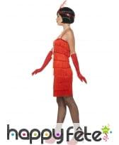 Robe courte rouge à franges style charleston, image 2
