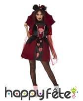 Robe courte rouge de reine de coeurs brisés, femme, image 1