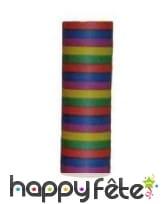 Rouleau de 18 serpentins multicolores, 6m