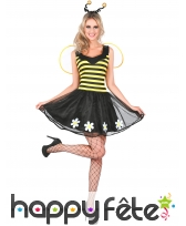 Robe d'abeille avec ailes et serre-tête, femme