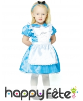 Robe d'Alice aux pays des Merveilles pour bébé