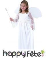 Robe d'ange blanc avec ailes pour enfant
