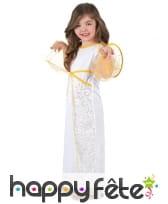 Robe d'ange blanche et dorée pour fillette, image 1