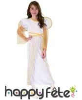 Robe d'ange blanche et dorée pour fillette, image 3