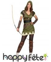 Robe d'archer des bois pour femme