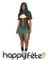 Robe d'archer pour femme, marron et vert, image 1