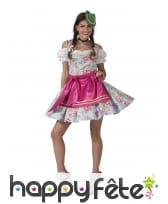 Robe de bavaroise fleurie pour femme avec tablier