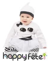 Robe de bébé fantôme noir et blanc