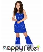 Robe disco bleue pour petite fille, image 1