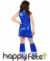 Robe disco bleue pour petite fille, image 2