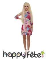 Robe droite Barbie avec perruque pour femme, image 1