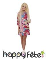 Robe droite Barbie avec perruque pour femme
