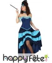Robe de cabaret bleue style années 20