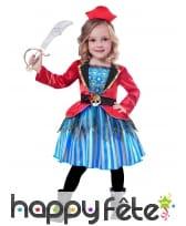 Robe de capitaine pirate pour petite fille