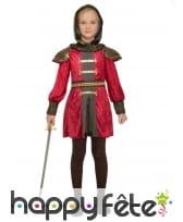 Robe de chevalière médiévale pour enfant