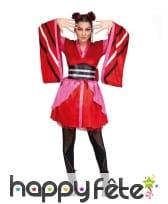 Robe de chinoise pour femme, manches larges