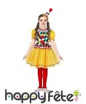 Robe de clown pour enfant, multicolore